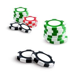 casino and poker gambling chips vector image