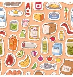 Everyday food seamless pettern vector image