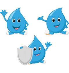 happy water drop cartoon vector image