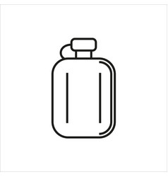hip flask simple icon on white background vector image vector image