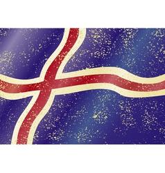 Iceland grunge flag vector image vector image