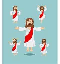 Jesus set of movements Jesus set of poses Jesus is vector image