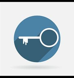key symbol icon Circle blue icon with shadow vector image