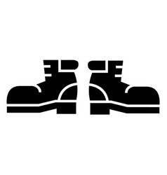 travel boots icon black sign vector image vector image