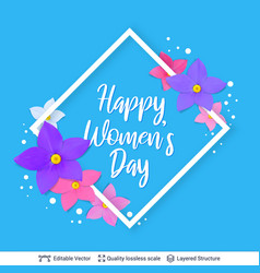 8 of march women day card or banner template vector image