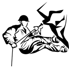 abseiling vector image