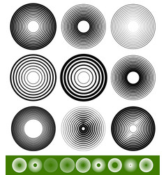 Abstract blended circle element set vector
