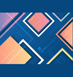 abstract colorful gradient geometric squares vector image