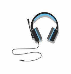 acoustic headphones on white background vector image