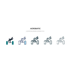 Acrobatic icon in different style two colored vector