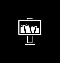 Advertising icon flat design vector