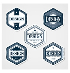 Awesome Badges Template vector image