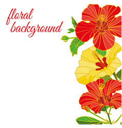 background of painted flowers logo cover vector image