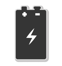 Battery isolated flat icon in black and white icon vector image