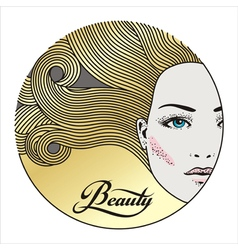 beauty face 3 vector image