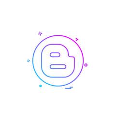 blogger media network social icon design vector image