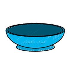 Bowl to prepare delicious and healthy organic food vector
