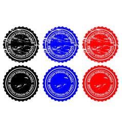 British virgin islands rubber stamp vector