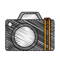 Camera travel and tourism symbol vector