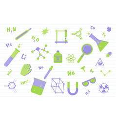 chemistry science education with various objects vector image