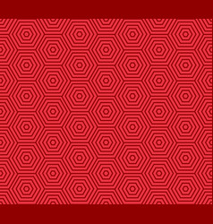 chinese hexagon spiral pattern seamless red art vector image