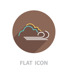 Cloudy and wind icon vector