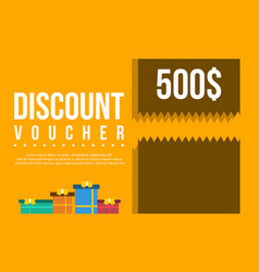 collection gift voucher flat design vector image