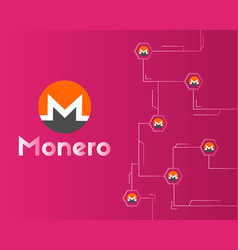 Cryptocurrency monero digital technology vector