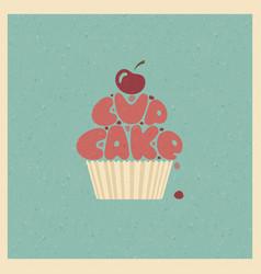 cupcake stylized image vector image