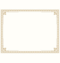 decorative vintage frame floral pattern border vector image