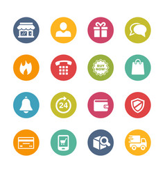 e-shopping icons - fresh colors series vector image