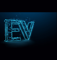ev or electric vehicle icon vector image