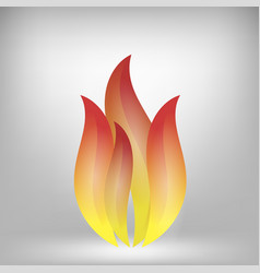 fire icon isolated on grey background vector image