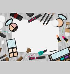 flat design of make up vector image vector image