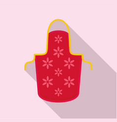 flower apron icon flat style vector image