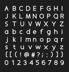 Font and number design vector