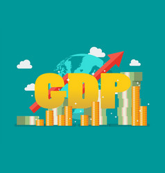 Gross domestic product national earning profit vector
