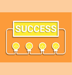 Idea success concept vector
