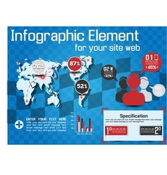 INFOGRAPHIC MODERN STYLE WEB ELEMENT vector image