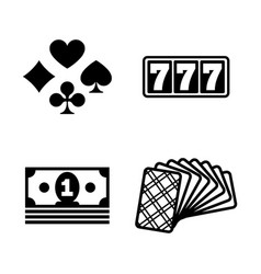 Jackpot simple related icons vector