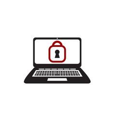 laptop secure vector image