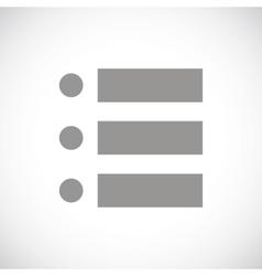 List black icon vector