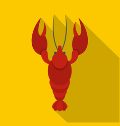 lobster icon flat style vector image