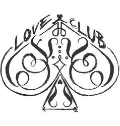 Love club vector