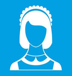 Maid icon white vector