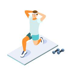 man fitness vector image