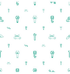 mechanic icons pattern seamless white background vector image