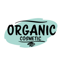 organic cosmetic label or product emblem vector image