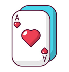 poker cards icon cartoon style vector image