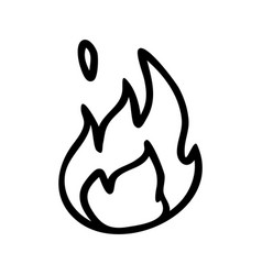 Punk rock fire lineart simple vector